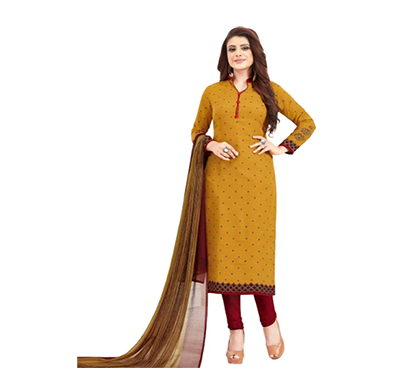 tendisha (2763) synthetic printed unstitched dress material (multi)
