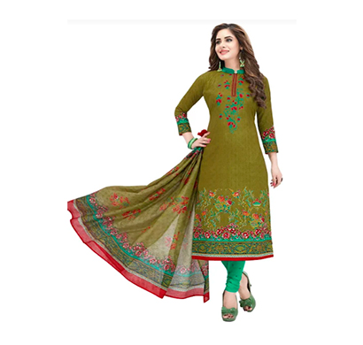 tendisha (2764) synthetic printed unstitched dress material (multi)