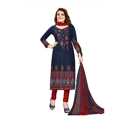tendisha (2765) synthetic printed unstitched dress material (multi)
