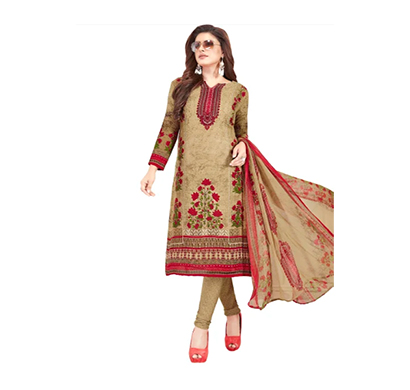 tendisha (2766) synthetic printed unstitched dress material (multi)