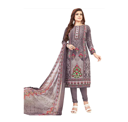 tendisha (2767) synthetic printed unstitched dress material (multi)