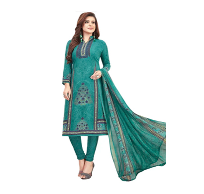 tendisha (2768) synthetic printed unstitched dress material (multi)