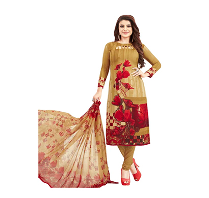 tendisha (2769) synthetic printed unstitched dress material (multi)
