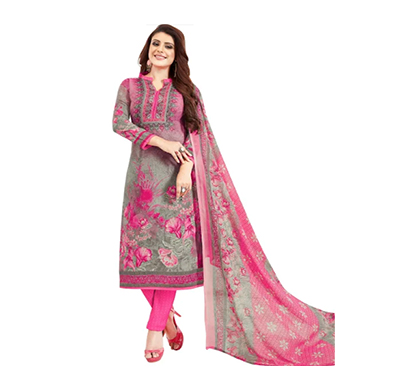 tendisha (2770) synthetic printed unstitched dress material (multi)