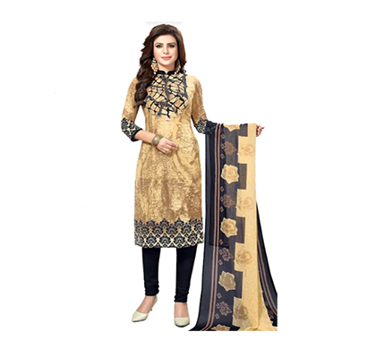 tendisha (2771) synthetic printed unstitched dress material (multi)