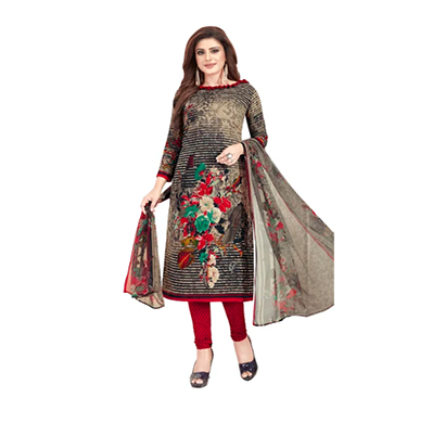 tendisha (2772) synthetic printed unstitched dress material (multi)