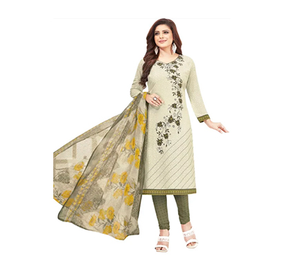 tendisha (2773) synthetic printed unstitched dress material (multi)