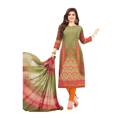 tendisha (2774) synthetic printed unstitched dress material (multi)