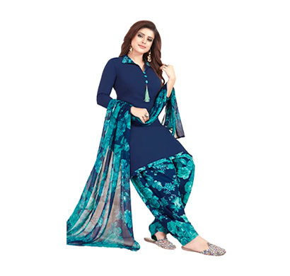 tendisha (2776) synthetic printed unstitched dress material (multi)