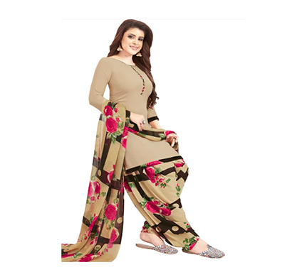 tendisha (2777) synthetic printed unstitched dress material (multi)