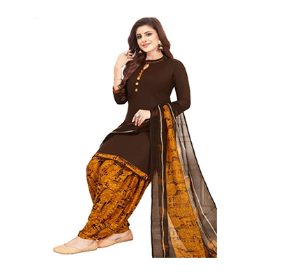 tendisha (2778) synthetic printed unstitched dress material (multi)