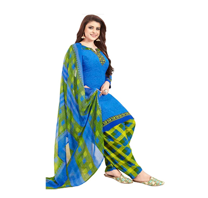 tendisha (2779) synthetic printed unstitched dress material (multi)