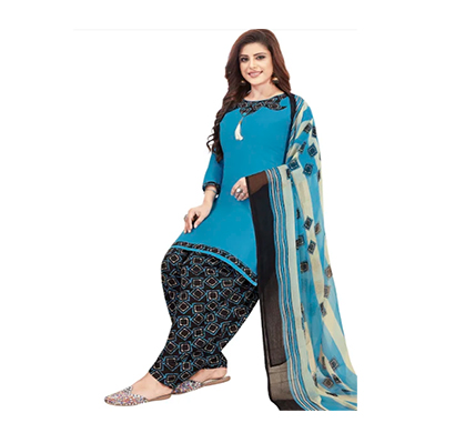 tendisha (2782) synthetic printed unstitched dress material (multi)