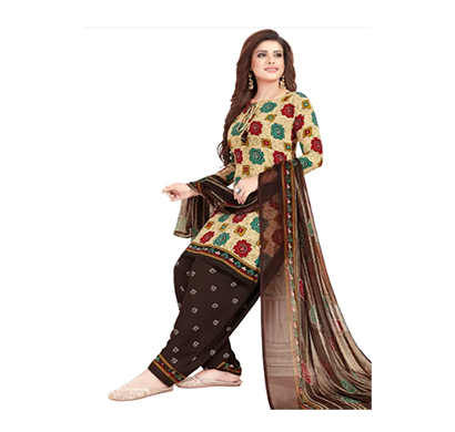 tendisha (2784) synthetic printed unstitched dress material (multi)