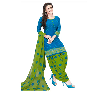 tendisha (2785) synthetic printed unstitched dress material (multi)