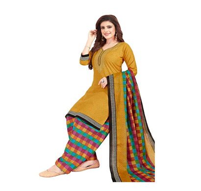 tendisha (2786) synthetic printed unstitched dress material (multi)