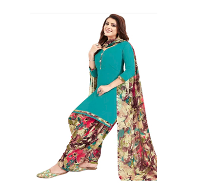 tendisha (2788) synthetic printed unstitched dress material (multi)