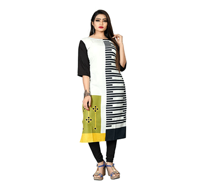 textile fab tf-21 women's crepe digital printed straight cut kurti