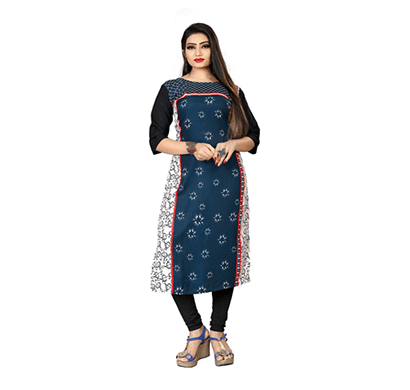 textile fab tf-23 women's crepe digital printed straight cut kurti