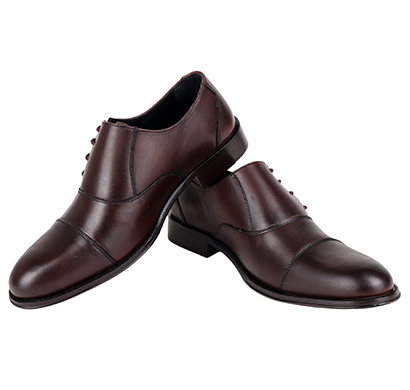 the leather box the valiant captoe side lace oxford-new variant calf brown leather mens shoes