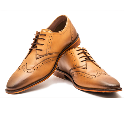 the leather box (33579-dual tan) calf leather the chivalrous tan derby mens shoes