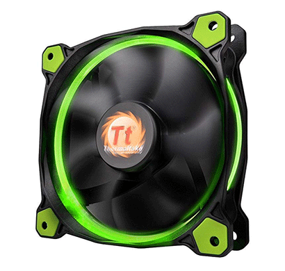 thermaltake (cl-f058-pl12gr-a) riing 12 high static pressure led radiator fan (green)
