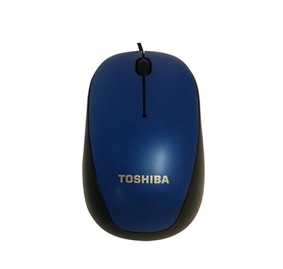 toshiba u55 blue led usb optical mouse (metallic blue)
