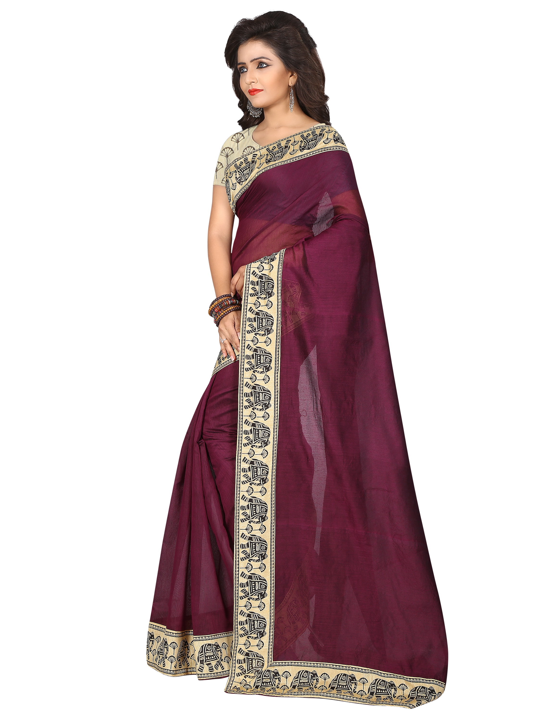 traditional south indian chanderi cotton saree