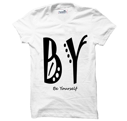 trendzwing tw015 be yourself t-shirt white