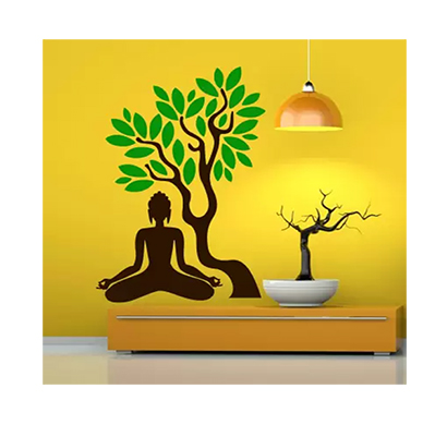 enormous kart buddha blossom tree on wall medium spiritual sticker (pack of 1)