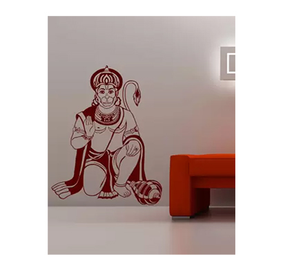 enormous kart lord hanuman on wall medium spiritual sticker (pack of 1)