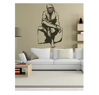 enormous kart sai baba on wall medium spiritual sticker (pack of 1)