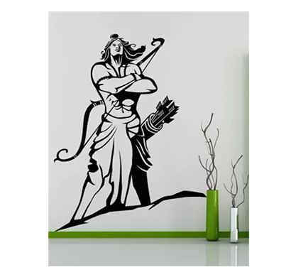 enormous kart lord ram on wall medium spiritual sticker (pack of 1)