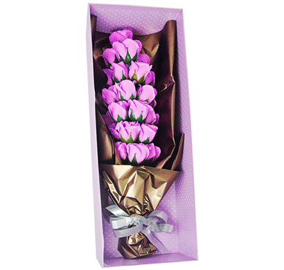 urban chakkar artificial flower bouquet with ribbon