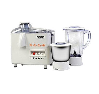 usha 3345 (450 w) juicer mixer grinder with 2 jars