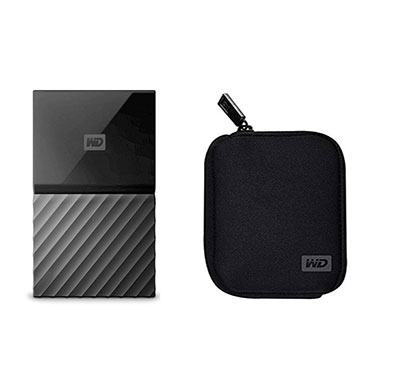 wd my passport 2tb external hard drive with pouch (mix color)