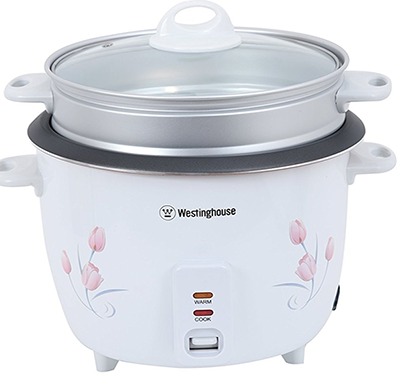 westinghouse- rc18w1s-cm, electric rice cooker, 1.8 l, white, 1 year warranty