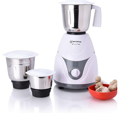 westinghouse - mg-mp60w3a-ds, 600 watt 3 jar mixer grinder, white, 1 year warranty