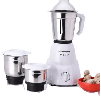 westinghouse- mc45b3a-dr, 450-watt mixer grinder with 3 jars, white, 1 year warranty