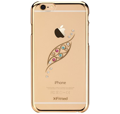 x-fitted- p6jy(g), graceful leaf back cover for apple iphone 6/6s, gold