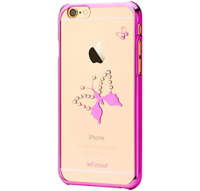 x-fitted - p6dh(p), classic butterfly(pink) case for iphone 6/6s, pink