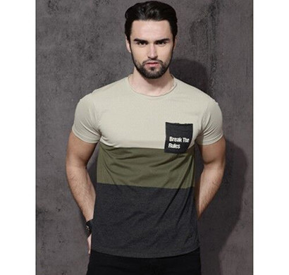 yellow tree brekdi rul half sleeves cotton t-shirt