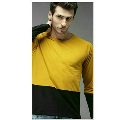 yellow tree full sleeves cotton t-shirt (yellow & black)