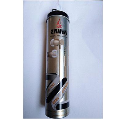 zavia zv-1102 universal metal hands-free earphone with mic