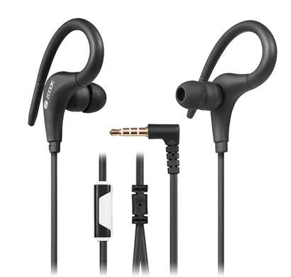 zoook sports style earphone with mic zm-em21 (black or white)