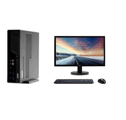 acer veriton n200 mini (un.b6dsi.134) pc (intel celeron j4105/ 4gb ram/ 1tb hdd/ dos/ 19.5 inch/ usb keyboard + mouse/ 3 years warranty), black