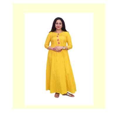 adaah beautiful stylish 100% cotton kurti ( size-l, x, xxl, xxxl)