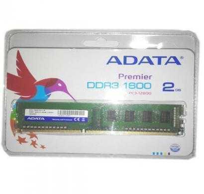 adata ddr3 2 gb (1 x 2 gb) pc ram (ad3u1600c2g11-r)