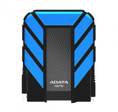 adata dash drive durable hd710 portable external hard drive, blue, 1tb (blue)
