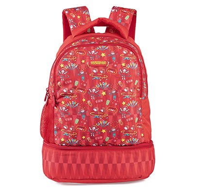 american tourister back to school backpack tiddle 02 coral red
